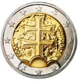 Slovakian 2 Euro € coin