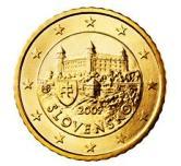 Slovakian 50 cent coin