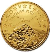 Slovenian 50 cent coin