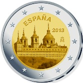 Spanish Commemorative Coin 2013 - San Lorenzo del Escorial Monastery