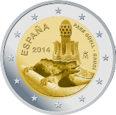 Spanish Commemorative Coin 2014 - Park Güell