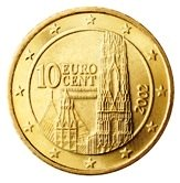 Austrian 10 cent coin