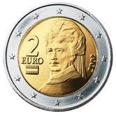 Austrian 2 Euro € coin