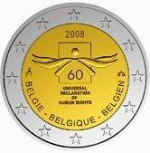 Belgian Commemorative Coin 2008, Human Krights