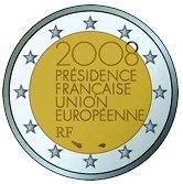 French Commemorative Coin 2008 French Presidency of EU
