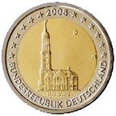 German Commemorative Coin 2008 - Hamburg