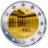 Spanish Commemorative Coin 2011 - Patio de los Leones Alhambra Grenada