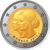 Monaco Commemorative Coin 2011 - Wedding Albert II and Charlene