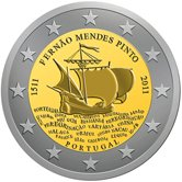 Portuguese Commemorative Coin 2011 - Fernao Mendes Pinto