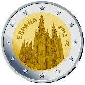 Spanish Commemorative Coin 2012 - Burgos Cathedral