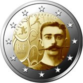 French Commemorative Coin 2013 - Pierre de Coubertin - Modern Olympic Games.