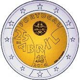 Portuguese Commemorative Coin 2014 - Carnation Revelution