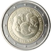 Vatican Commemorative Coin 2015 - VII World Meeting of Females in  Philadelphia
