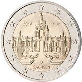 German Commemorative Coin 2016 - Sachsen