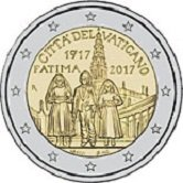 Vatican Commemorative Coin 2017 - 100 years since the visions of Fatima