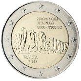 Maltese Commemorative Coin 2017 - Complex at Hagar Qim