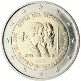 Vatican Commemorative Coin 2017 - 1950 years deaths of St. Peter and Paul the Apostle