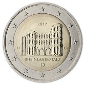 German Commemorative Coin 2017 - Rheinland Pfalz