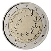 Slovenian Commemorative Coin 2017 - 10 years euro