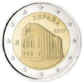 Spanish Commemorative Coin 2017 - Santa Mariadel Naranco Church