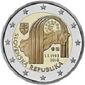 Slovakian Commemorative Coin 2018 - 25 years founding of Slovakian Republic