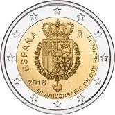 Spanish Commemorative Coin 2018 - Birthday of King Felipe VI
