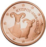 Cyprus 2 cent coin  Cypriot Mollon