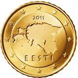 Estonian 10 cent coin