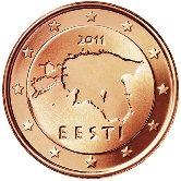 Estonian 1 cent coin