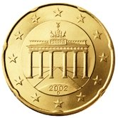 German 20 cent coin