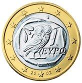 Greek 1 Euro €  coin