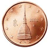Italian 2 cent coin