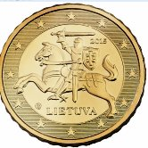 Lithuanian 10 cent coin