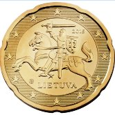 Lithuanian 20 cent coin