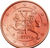 Lithuanian 2 cent coin