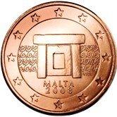 Maltese 5 cent coin