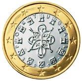 Portuguese 1 Euro €  coin