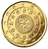 Portuguese 20 cent coin