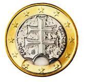 Slovakian 1 Euro €  coin