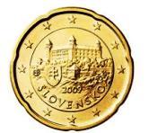 Slovakian 20 cent coin