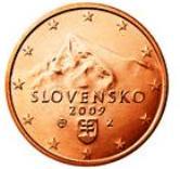 Slovakian 1 cent coin