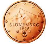 Slovakian 5 cent coin