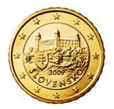 Slovakian 10 cent coin