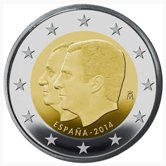 Spanish Commemorative Coin 2014 - Succession to the throne of King Filipe VI